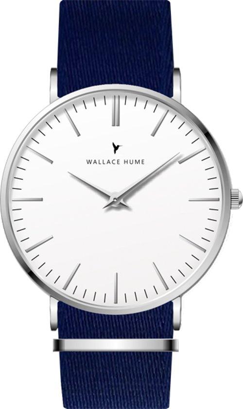 Wallace Hume Klassiek Wit - Horloge - NATO - Blauw