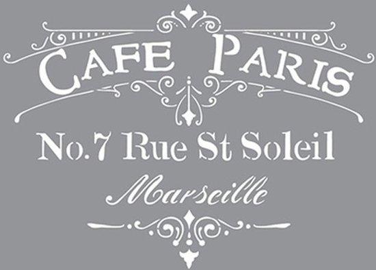Verfsjabloon Cafe Paris