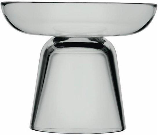 Kaarsenhouder 10,7 glas Grijs