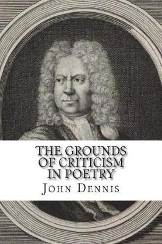 The Grounds of Criticism in Poetry