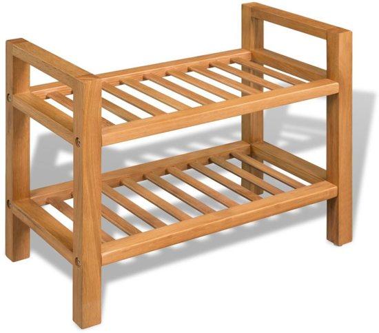 Schoenenrek Hout Rek Voor Schoenen Keukenrek 2 Laags Planken Open Kast