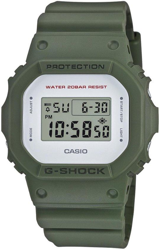 Casio G-Shock DW-5600M-3ER - Horloge - Kunststof - Groen - 44 mm