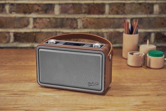 Goodmans Heritage Portable Wifi DAB+ Bluetooth Radio Wood