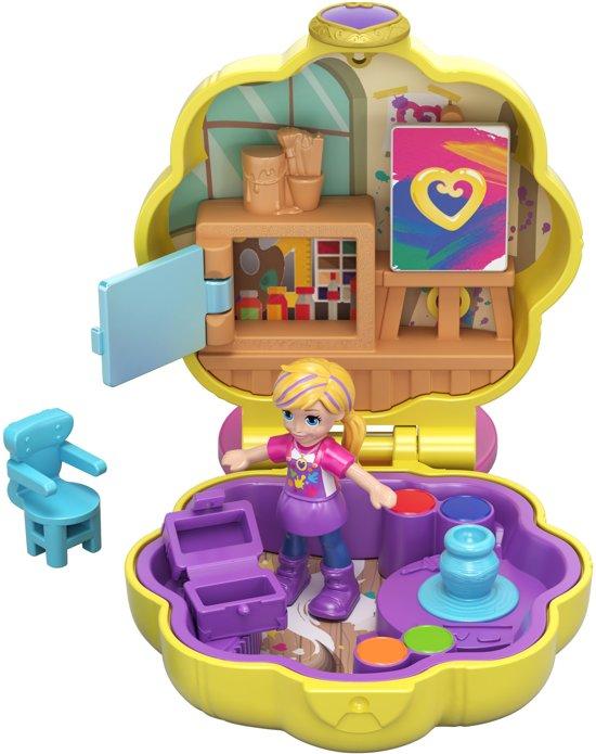 Polly Pocket Tiny Pocket Places Polly's Atelier - Micro Speelfigurenset
