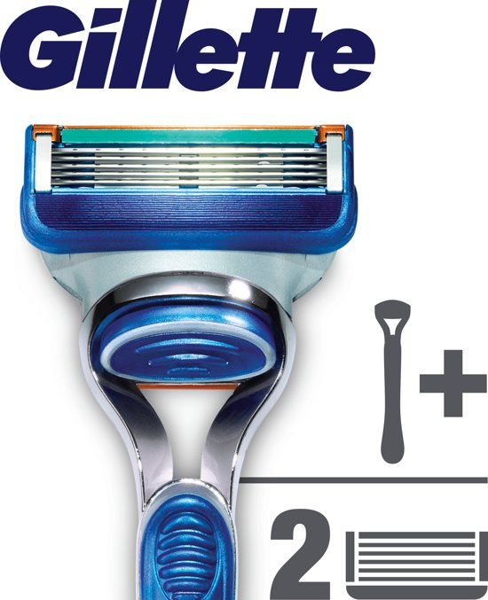 Gillette Fusion Scheersysteem + 2 Scheermesjes - Scheermes
