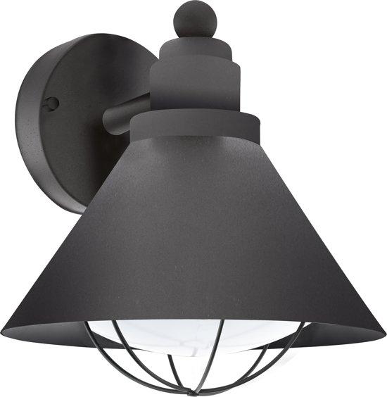 EGLO Vintage Barrosela - Buitenverlichting - Wandlamp - 1 Lichts - Zwart