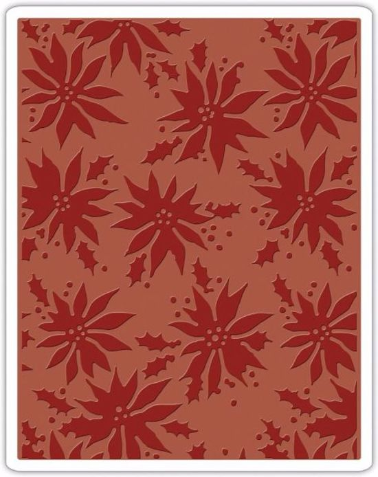 Sizzix Texture Fades Embossing Folder by Tim Holtz, Poinsettias