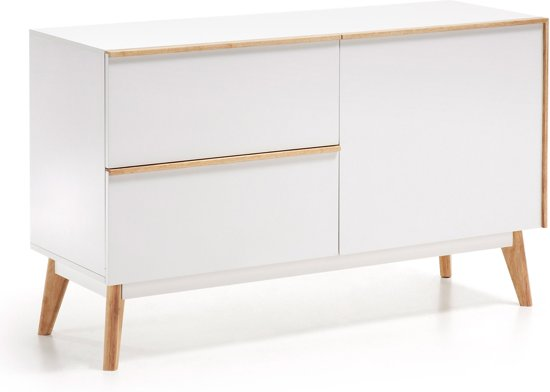 Kast Wit Hout : Bol kave home meety dressoir wit hout