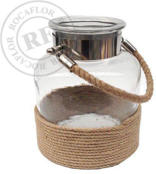 Rocaflor-Windlicht-Glas-Helder-Touw-AB5345M