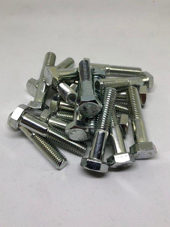 Zeskantbout M8 X 40 staal verzinkt 20 stuks