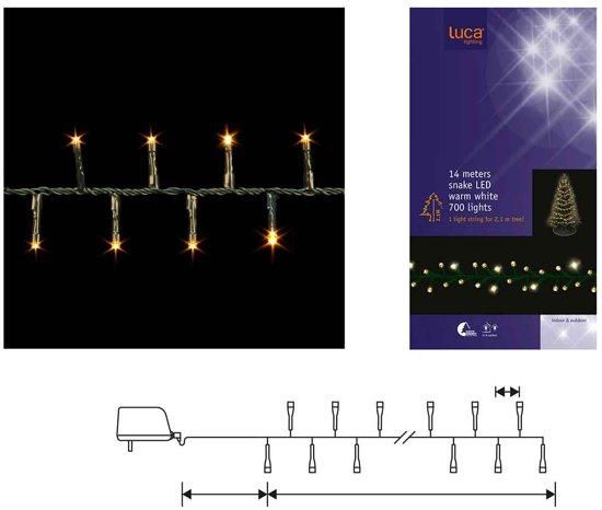 Luca Lighting Kerstboomverlichting 14 m - 700 LEDs - voor 215 cm hoge boom