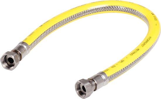 Gasslang 100 cm. 3-voudig RVS Superflex Premium [Gastec QA]