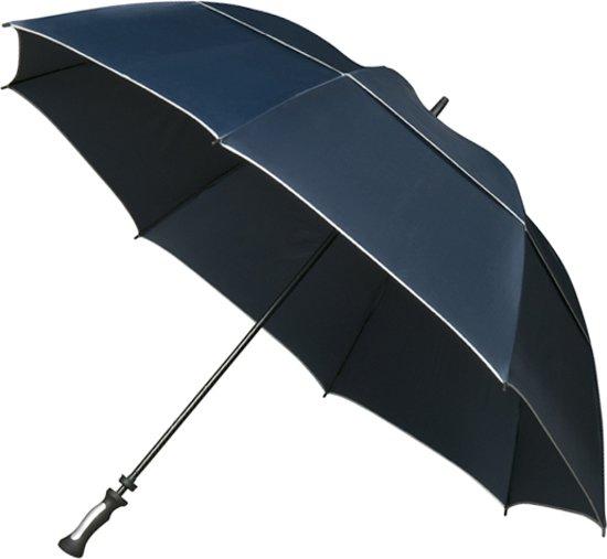 Falcone® XXL Stormparaplu - Glasfiber Stok / Baleinen - Blauw