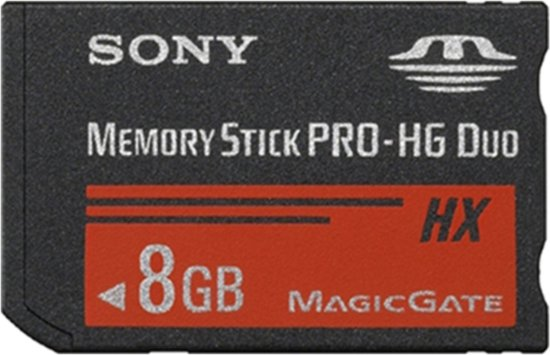 Sony 8GB Memory Stick Pro HG Duo 50MB/sec - Geschikt voor de PSP