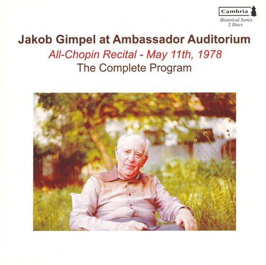 Jakob Gimpel at Ambassador Auditorium: All-Chopin Recital, May 11th, 1978