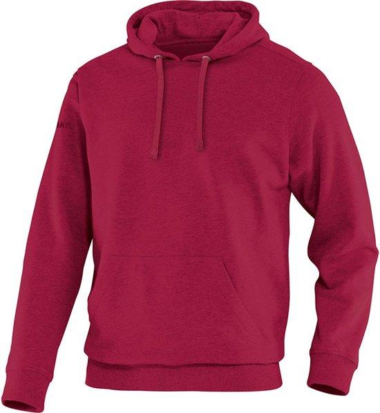 Jako Team Sweater met Kap - Sweaters  - rood donker - L