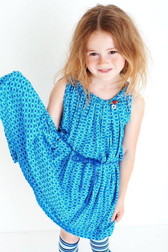 Mim-Pi Meisjes Mouwloze jurk Royal blue - -Maat 92