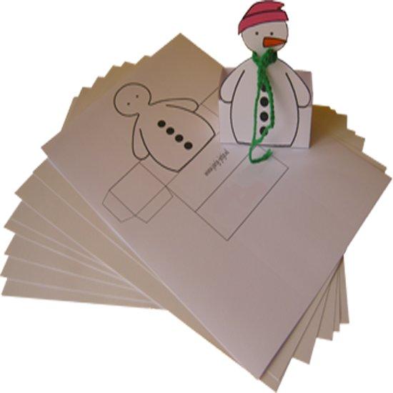 Kindertraktatie sneeuwpop 25 stuks