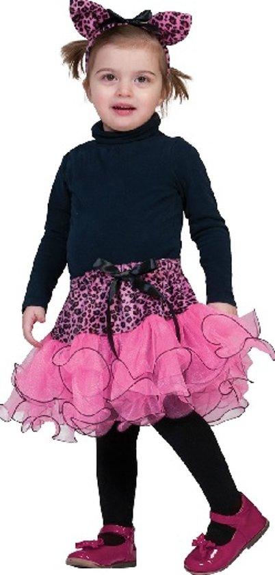 Mini roze panter set voor baby's - Verkleedkleding - Maat 98/104 (Valt klein uit)