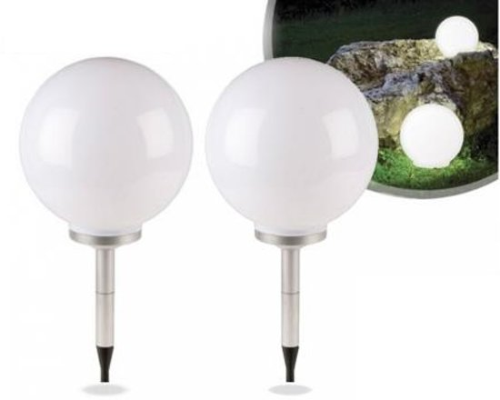 Solar Bollen Vijver.Solar Led Lichtbollen 2 Stuks Automatische Inschakeling