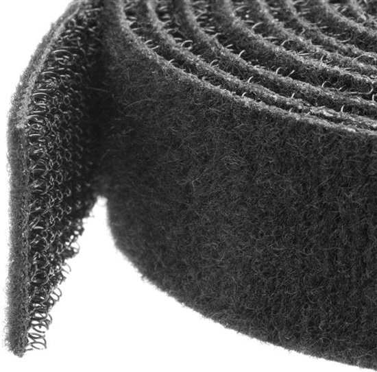 StarTech.com Klittenband kabelbinder 7,5 m rol zwart