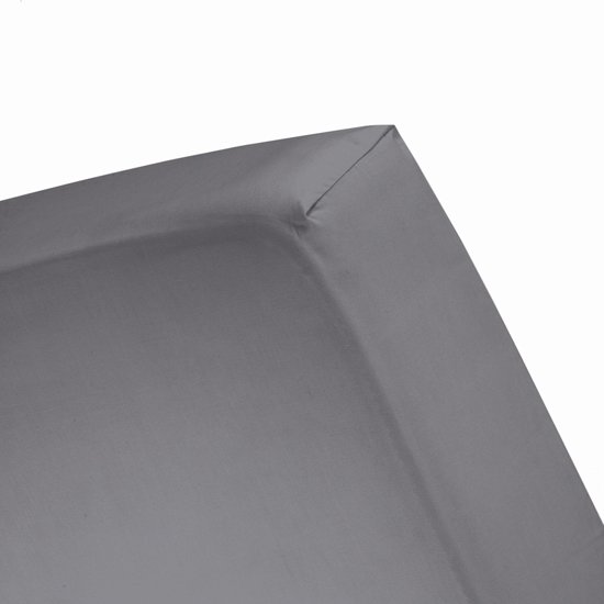 Damai - Hoeslaken (tot 25 cm) - Double Jersey - 140x200/210/220 - 150x200 cm - Anthracite