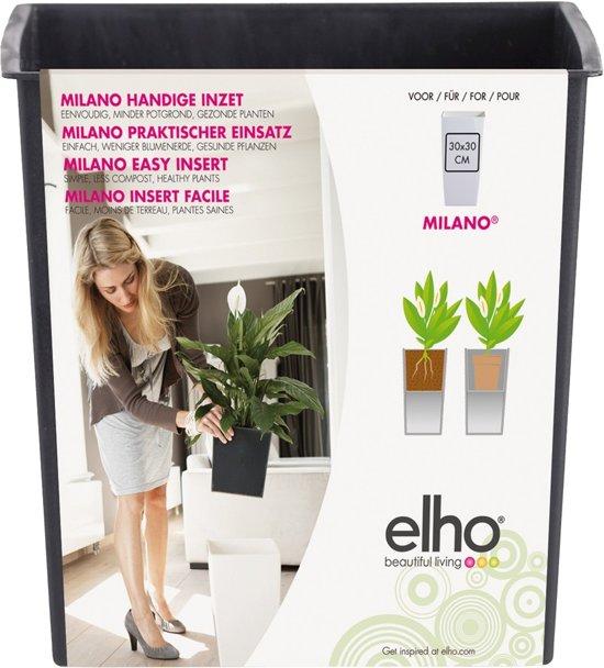 Elho Milano easy insert 30cm living black