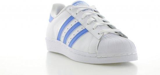 3 Unisex Superstar blauw Foundation Maat Adidas 40 Wit 2 Sneakers wpzqxqta