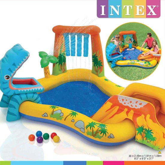 Intex Opblaaszwembad Dinosaur Play Center 249x191x109 cm 57444NP