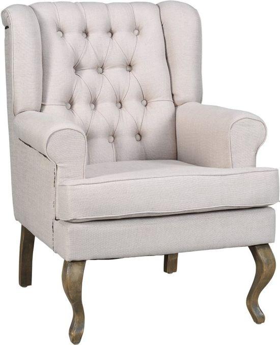 Woonexpress born fauteuil met arm naturel wonen - Romantische fauteuil ...