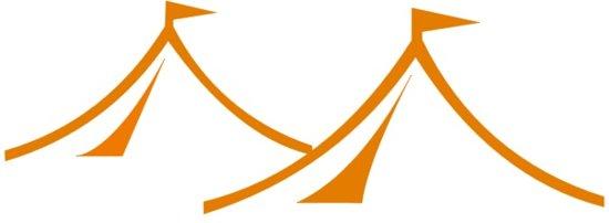 Opslagtent 3x6 Premium PVC Brandvertragend - Wit