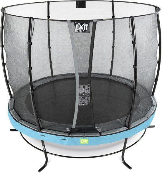EXIT Elegant trampoline ø253cm met veiligheidsnet Economy - blauw