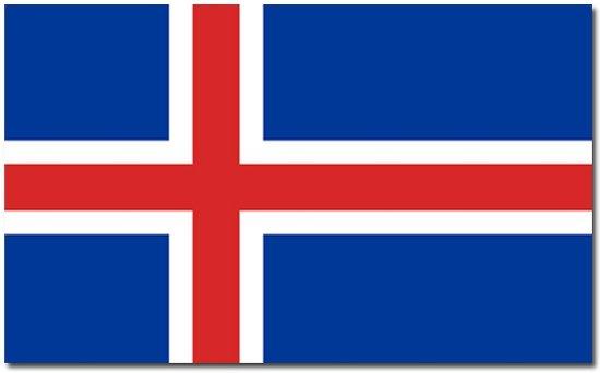 Vlag IJsland 90 x 150 cm