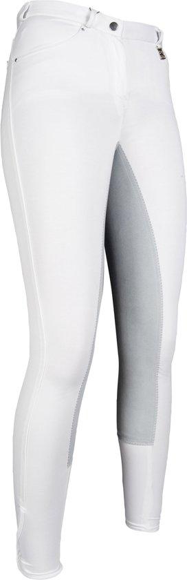 Rijbroek -Comfort fit- 3/4 Alos zitvlak wit/lichtgrijs 72