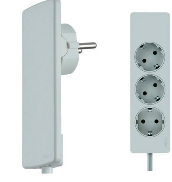 Super bol.com | Evoline Plug platte stekker met stekkerdoos - Wit UE73
