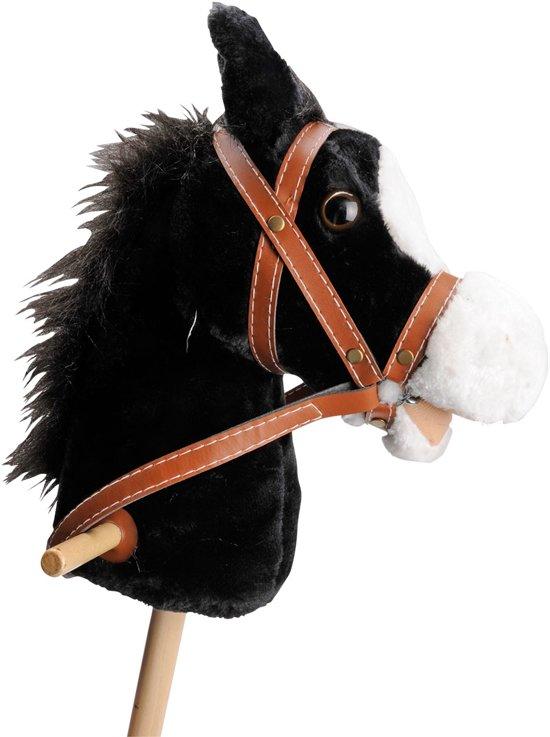 Afbeelding van Houten Stokpaard met Geluid - Zwart speelgoed