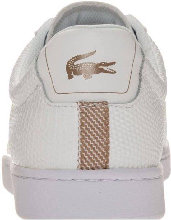 Heren 118 Tan 2 Gekleed Maat Sneaker Lacoste Wit light Carnaby 46 Laag Evo Y05 735spm0005 white xqE8apHn1w