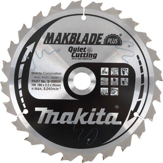 Makita B-08604 Zaagb Q+C 190x20x2,2 24T 5g