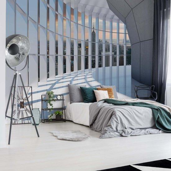 Fotobehang New York City 3D Modern Architecture View | V4 - 254cm x 184cm | 130gr/m2 Vlies
