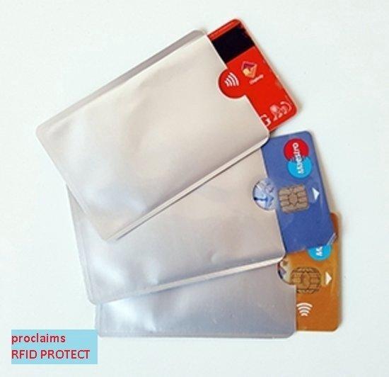 de22e5312b2 Ikoop & Proclaims © Bankpas OV-ID kaart beschermer - RFID blocker Zilver 10  stuks