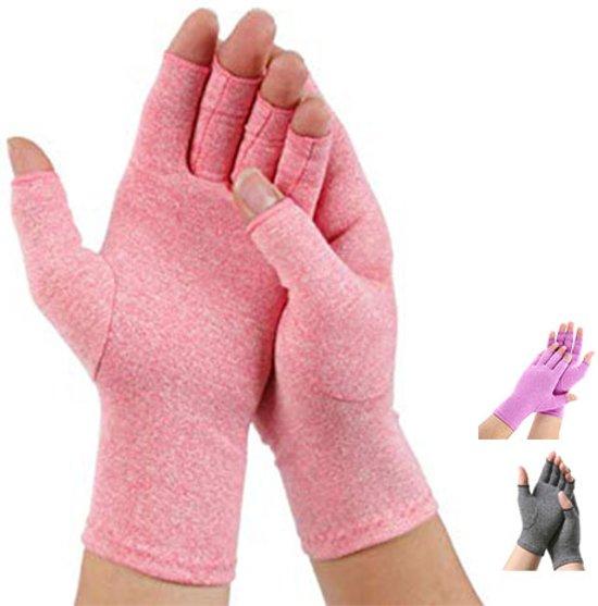 Pro-orthic Reuma Artritis Handschoen Anti-Slip Roze - Small