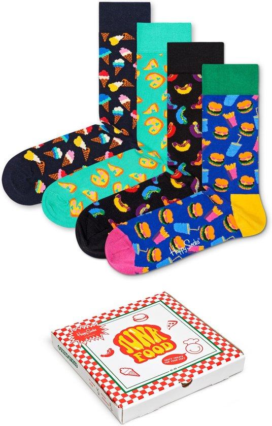 Happy Socks - Junkfood Giftbox - pizza, hotdog, hamburger - Maat 36-40