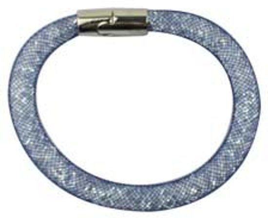 Band Armband - Binder - Glitter Blauw