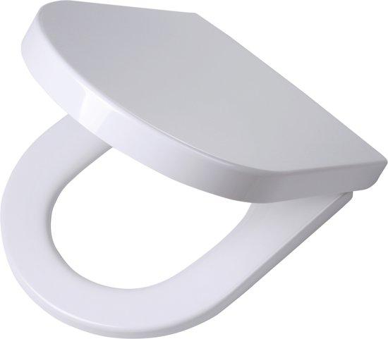 Tiger Memphis wc-bril met D-vorm - Softclose - Duroplast - Afklikbaar - Wit