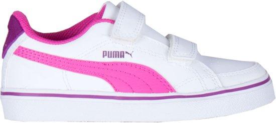 bol.com | Puma Sneakers - Maat 33 - Unisex - wit/roze/paars