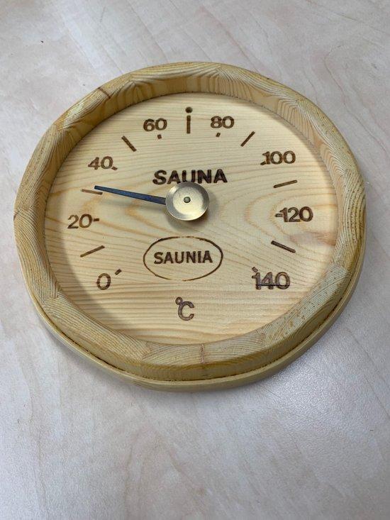 Saunia - sauna thermometer - in de vorm van een biervat
