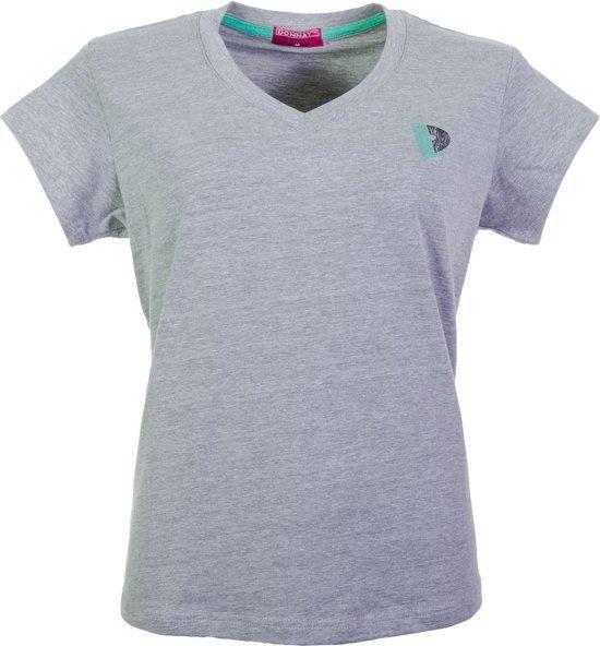 Donnay V-neck shirt - Sportshirt - Dames - Maat S  - Grijs