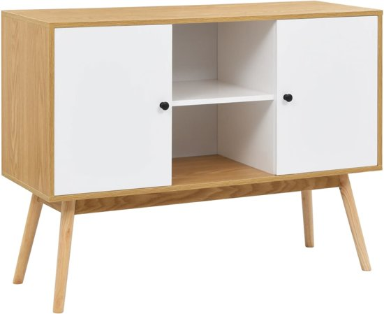 Dressoir Tv Kast Wit.Bol Com Dressoir Wit Ladekast Incl Lw 3d Klok Wandkast Tv