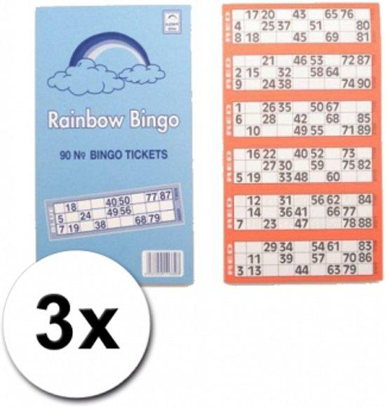 Afbeelding van het spel 3 blokken Bingokaarten 1-90