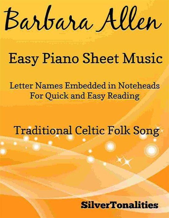 Barbara Allen Easy Piano Sheet Music